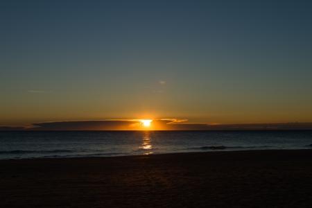 Sunrise on a calm Mediterranean beach Stock Photo - 17369020