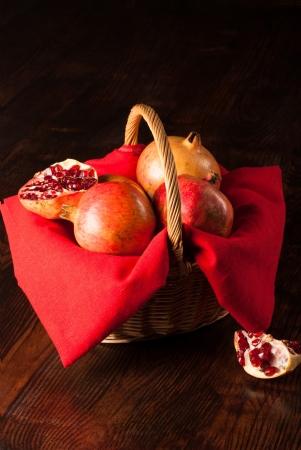 pommegranates: Still life with pommegranates, a classic autmn fruit
