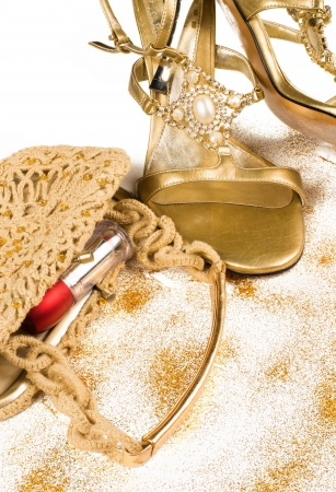 Party time, shiny female accessories, a concept Stock Photo - 17741520