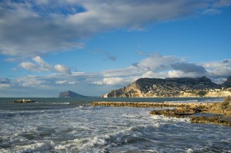 costa blanca: Sunny Mediterranean coast  on the Costa Blanca, Spain Stock Photo