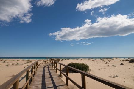 costa blanca: Carabassi beach near Elche, Costa Blanca, Spain