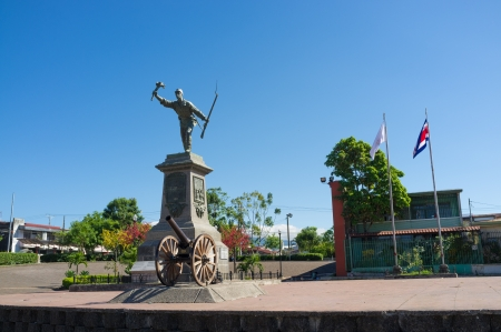 Juan Santamaria square in central Alajuela, Costa Rica Stock Photo
