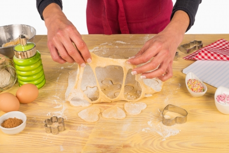 pastry cutters: Preparing fancy shaped cookies with some pastry cutters