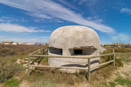 embrasure: Sapnish civil war bunker, a classic concrete pillbox