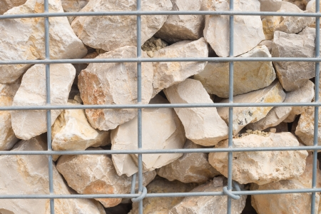 Detail shot of a  stone retaining wall photo