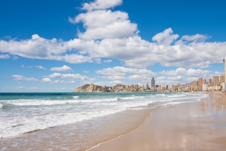 The skyline of southern Benidorm as seen from Poniente beach