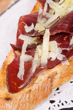 air dried: Cecina, air dried beef meat, a popular Spanish tapa starter Stock Photo