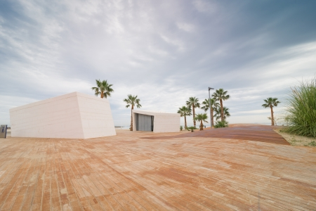Beach promenade in a modern design at Benicassim, Spain