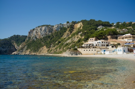 One of the many small beaches dotting Costa Blanca, Spain Stock fotó
