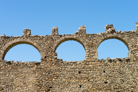 stone arches: Detail take of the stone arches of a medieval aqueduct