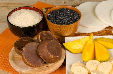 panela: classic South American food ingredients Stock Photo