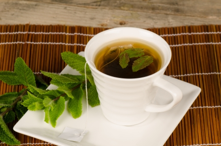 enhanced: Green tea enhanced with aromatic mint leaves