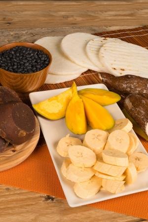panela: An assortment of different latin food staples
