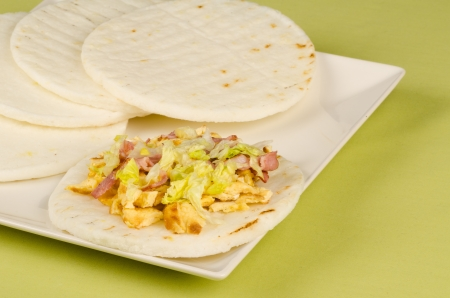 food staple: Portion of arepas, a  Latin American  food staple classic