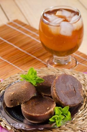 panela: Traditional Latin American drink prepared with raw brown sugar, panela