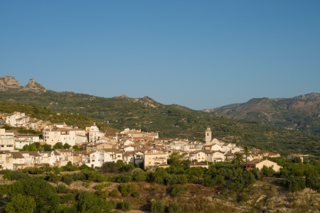 forested: Typical inland Costa Blanca landscape, eastern Spain
