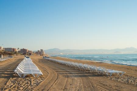 costa blanca: Arenales beach on a sunny summer morning, Costa Blanca, Spain