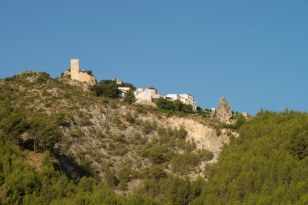 hilltop: Hilltop  castle of Guadalest, Costa Blanca, Spain Stock Photo