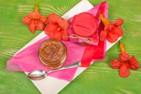 plantain: Freshly homemade plantain marmalade, a fruity spread Stock Photo