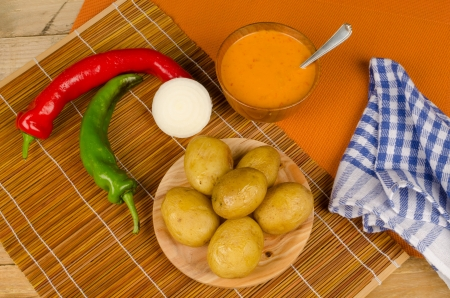 mojo: Mojo sauce to go with potatoes, Canarian cuisine
