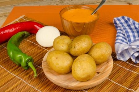 mojo: Mojo picon sauce to go with potatoes, a Canarian cuisine classic