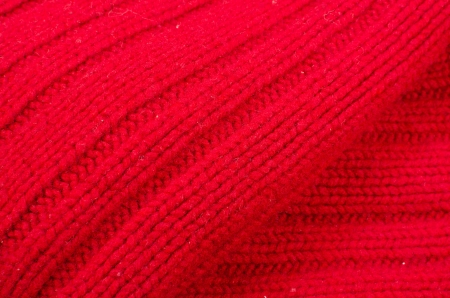 Full frame take of a  red woolen pattern photo