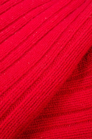 Full frame closeup take of a  red woolen sweater photo