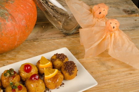 Panellets, traditional homemade Halloween sweets from eastern Spain photo