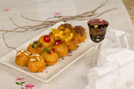 panellets: Traditional homemade panellets, a Spanish Halloween sweet