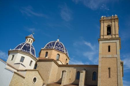 altea: Altea churchtower and  dome, Costa Blanca, Spain
