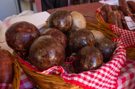 Morcilla, black pudding, a Spanish sausage classic Stock Photo