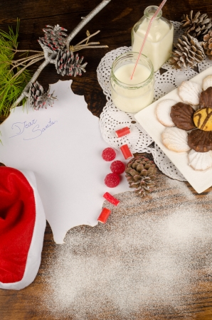 wish list: Christmas still life with a wish list paper