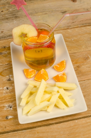 Fake French fries, a healthy and creative kid dessert photo