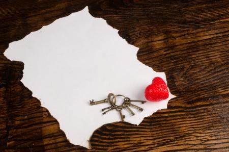 meant: Un pezzo di carta vuoto destinato a contenere un messaggio di San Valentino