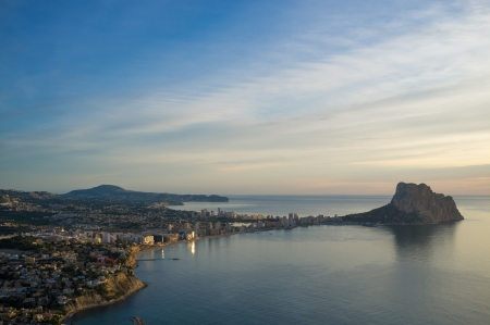 costa blanca: Costa Blanca resort Calpe from a high angle viewpoint