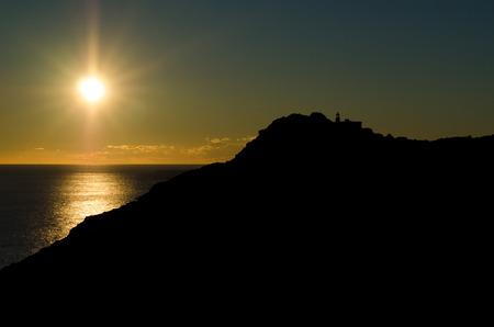costa blanca: Scenic Mediterranean sunrise on Costa Blanca, Alicante, Spain Stock Photo