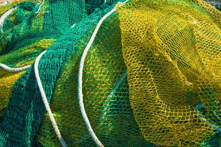 redes de pesca: Marco aproveche de redes de pesca tradicionales