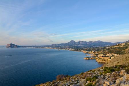altea: Coastline around Altea bay, Costa Blanca, Spain