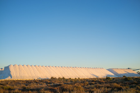 saltmine: Huge piles of finished product at a salt mine