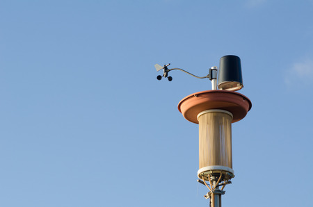 anemometer: Weather station with an anemometer and an air filter Stock Photo