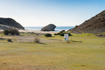 monsul: Secluded Monsul beach in the heart of Cabo de Gata natural park, Andalusia Stock Photo
