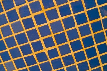 tile cladding: Full frame take of blue ceremic mosaic tiles
