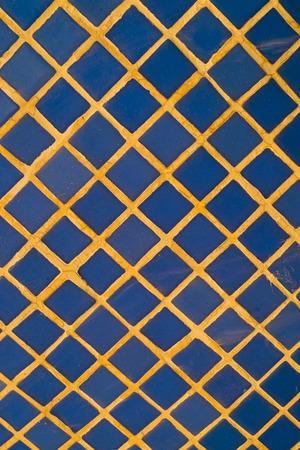 ceremic: Full frame take of blue ceremic mosaic tiles