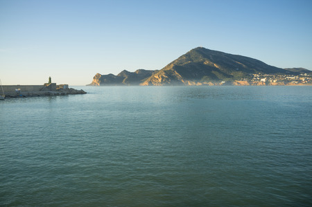 albir: Altea bay as seen from its harbour on a sunny morning