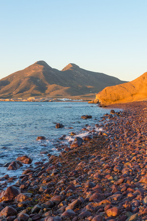 nautral: Sunrise over the volcanic coast of Cabo de Gata natural park,  Andalusia