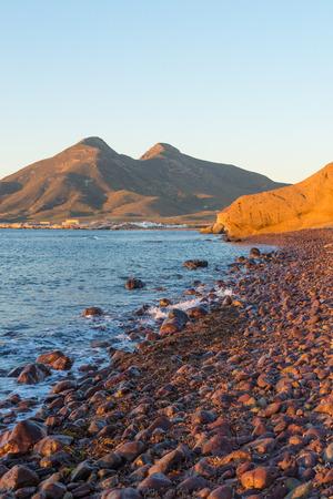 nautral: Sunrise over the volcanic coast of Cabo de Gata natural park,  Andalusia