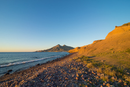 nautral: One of the many beaches on Cabo de Gata natural park under early morning sunshine