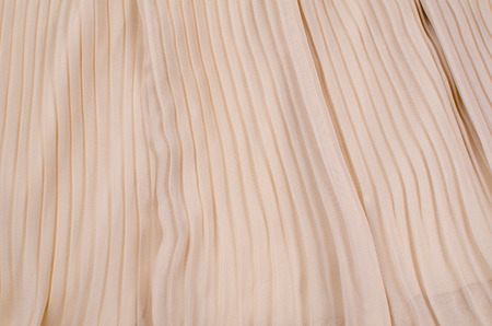 Full frame take of a piece of pleated cotton fabric Stock Photo