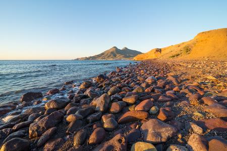 nautral: Scenic volcanic coastline on Cabo de Gata natural park, Andalusia, Spain