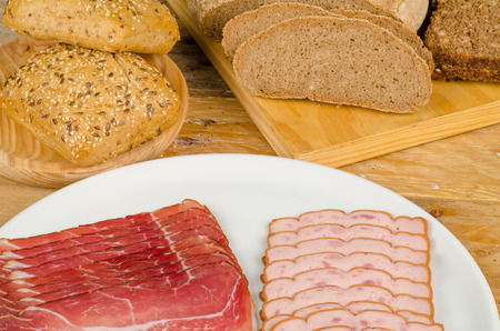 Traditional Bavarian cuisine, cold meat